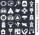 set of 25 icons such as scale ... | Shutterstock .eps vector #1154955004