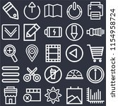 set of 25 icons such as stats ...