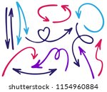 hand drawn diagram arrow icons... | Shutterstock .eps vector #1154960884