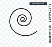 spiral vector icon isolated on... | Shutterstock .eps vector #1154962171