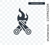 bonfire vector icon isolated on ... | Shutterstock .eps vector #1154962234
