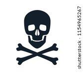 skull icon illustration. danger ...   Shutterstock . vector #1154965267