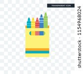 crayon vector icon isolated on...   Shutterstock .eps vector #1154968024