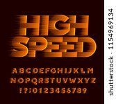 high speed alphabet font. wind... | Shutterstock .eps vector #1154969134