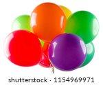 flying balloon on white... | Shutterstock . vector #1154969971