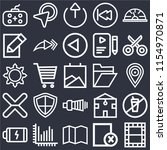 set of 25 icons such as video ...