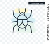 beetle vector icon isolated on... | Shutterstock .eps vector #1154972377