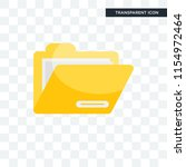 folder vector icon isolated on... | Shutterstock .eps vector #1154972464