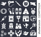 set of 25 icons such as... | Shutterstock .eps vector #1154973124
