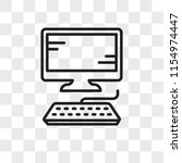 computer vector icon isolated... | Shutterstock .eps vector #1154974447