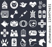 set of 25 icons such as horse ... | Shutterstock .eps vector #1154974651