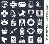 set of 25 icons such as animal... | Shutterstock .eps vector #1154974684