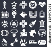 set of 25 icons such as... | Shutterstock .eps vector #1154976061