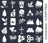 set of 25 icons such as wind...