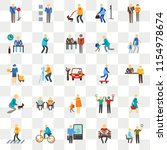 set of 25 transparent icons... | Shutterstock .eps vector #1154978674