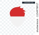 Indonesia vector icon isolated on transparent background, Indonesia logo concept