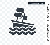 sailboat vector icon isolated... | Shutterstock .eps vector #1154978947