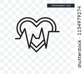 heartbeat vector icon isolated... | Shutterstock .eps vector #1154979274