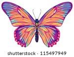 butterfly | Shutterstock .eps vector #115497949
