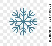 frost vector icon isolated on... | Shutterstock .eps vector #1154980801