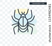 beetle vector icon isolated on... | Shutterstock .eps vector #1154982481