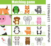 matching game. educational... | Shutterstock .eps vector #1154986531