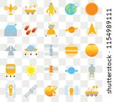 set of 25 transparent icons... | Shutterstock .eps vector #1154989111