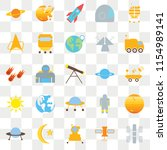 set of 25 transparent icons... | Shutterstock .eps vector #1154989141