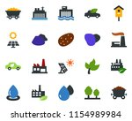 colored vector icon set   leaf...   Shutterstock .eps vector #1154989984