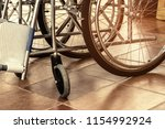 wheelchair for the disabled and ... | Shutterstock . vector #1154992924