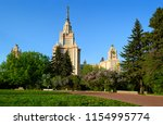 main building of moscow state...   Shutterstock . vector #1154995774