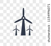 wind mills vector icon isolated ... | Shutterstock .eps vector #1154996071
