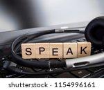word spell speak over laptop...   Shutterstock . vector #1154996161