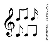 music notes icon on white... | Shutterstock .eps vector #1154996977