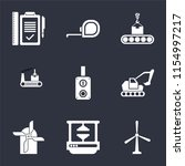 set of 9 simple icons such as... | Shutterstock .eps vector #1154997217
