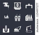 set of 9 simple icons such as... | Shutterstock .eps vector #1154997277