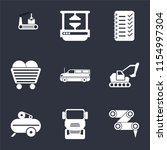 set of 9 simple icons such as... | Shutterstock .eps vector #1154997304