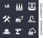 set of 9 simple icons such as... | Shutterstock .eps vector #1154997331