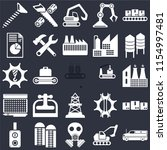 set of 25 icons such as cargo...