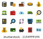 colored vector icon set  ...   Shutterstock .eps vector #1154999194