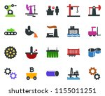 colored vector icon set  ... | Shutterstock .eps vector #1155011251