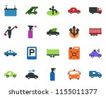 colored vector icon set  ...   Shutterstock .eps vector #1155011377