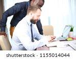 business meeting. top view of... | Shutterstock . vector #1155014044