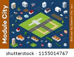a set of isometric houses and... | Shutterstock .eps vector #1155014767