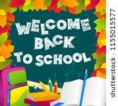 back to school illustration.... | Shutterstock .eps vector #1155015577