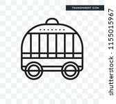 cage vector icon isolated on... | Shutterstock .eps vector #1155015967