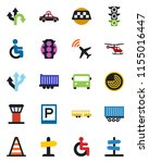 color and black flat icon set   ...   Shutterstock .eps vector #1155016447