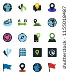 color and black flat icon set   ... | Shutterstock .eps vector #1155018487