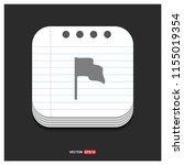 flag mark icon   free vector...   Shutterstock .eps vector #1155019354