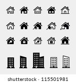 houses vector icons set | Shutterstock .eps vector #115501981